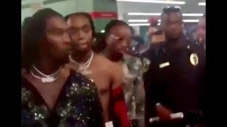 Migos RUNS UP on Chris Brown Backstage at the BET Awards!