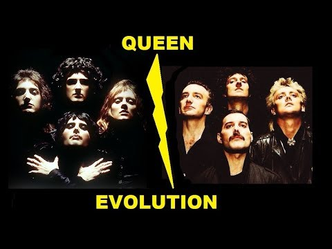 Queen - Evolution through the years. A tribute to Freddie Mercury