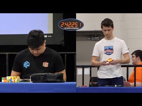 Max Park vs The Dream Team (2x2-7x7 Relay) - CubingUSA Nationals 2018