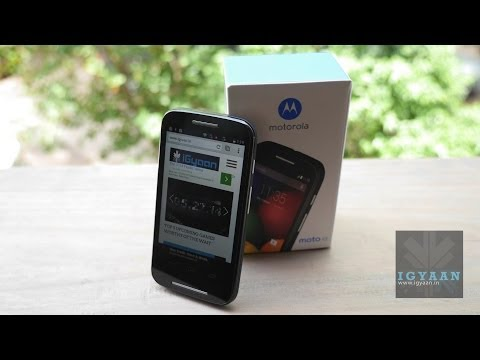 Moto E : First Unboxing and Hands On Review