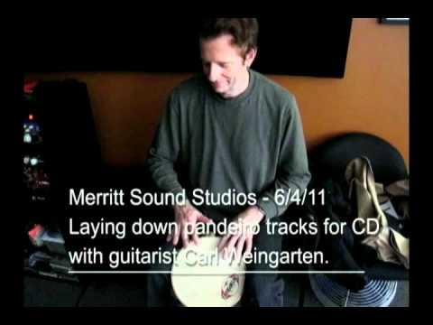 Celso Alberti in studio with Carl Weingarten 6/4/11