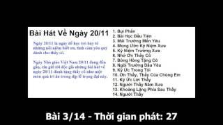 Những bài hát về Ngày Nhà giáo Việt Nam 20/11