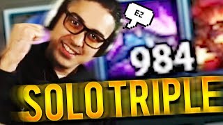 SOLO TRIPLE KILL WITH 1K STACKS NASUS!!! - Trick2G