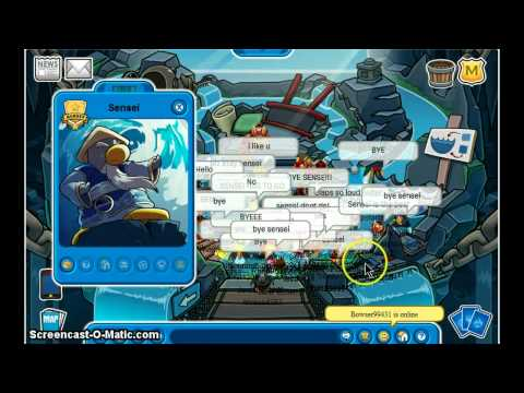 club penguin meeting water sensei november 2010