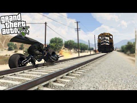 GTA 5 MODS BATMAN VS THE TRAIN