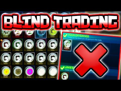 BLIND TRADING W/ PAINTED WHEELS ONLY!! ( White APEX, Crimson VOLTS & More Rocket League )