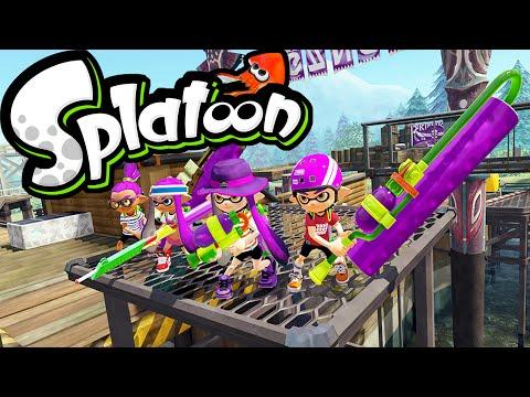 Splatoon Wii U Camp Triggerfish! August Update News: Ink Bucket, Maps, Gear Online Gameplay PART 32