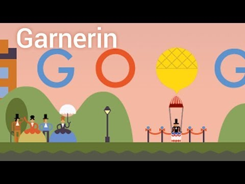 When was the first parachute jump? Andre Jacques Garnerin (Google Doodle)