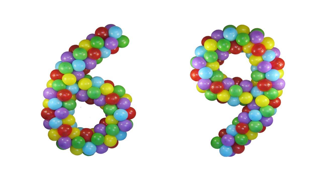 Шестерка из шариков своими руками 24