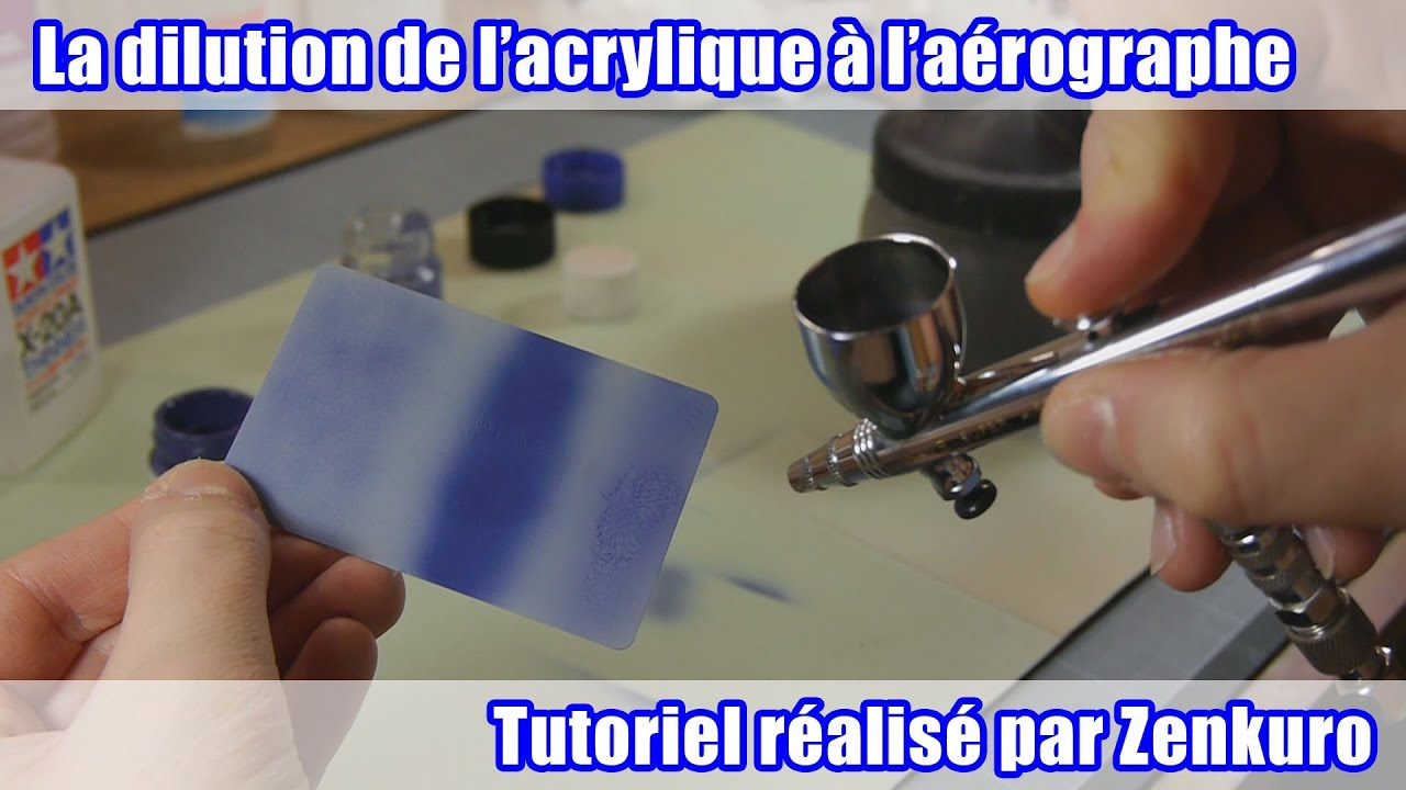 tutoriel la dilution de la peinture acrylique l 39 a rographe youtube. Black Bedroom Furniture Sets. Home Design Ideas