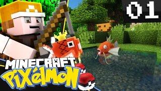 Minecraft: Pixelmon - Episode 1 - FISHERMAN STRUBBER! (Minecraft Pokemon Mod)