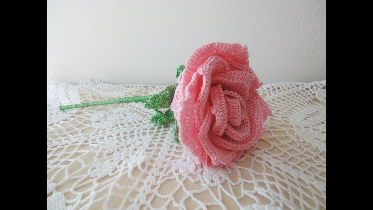 Вязание крючком цветочки и розы