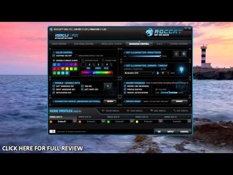 ROCCAT ISKU FX Gaming Keyboard Software Overview