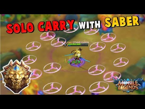 HOW TO SOLO QUEUE TO GLORIOUS LEGEND WITH SABER ! Mobile Legends