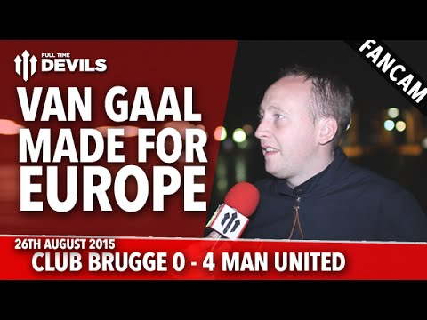 Van Gaal Made for Europe | Club Brugge 0-4 Manchester United | UEFA Champions League