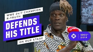 WWE 24/7 Champion R-Truth Defends His Title on Our Comic Con Stage
