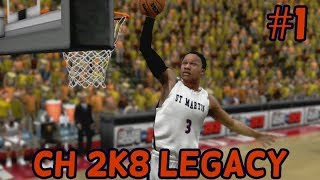 College Hoops 2K8 Legacy Mode: Introduction (Part 1/Season 1)