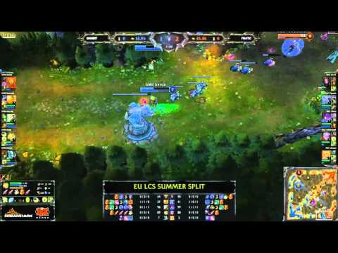 Gambit Gaming vs Fnatic - LCS 2013 EU Summer W1D1