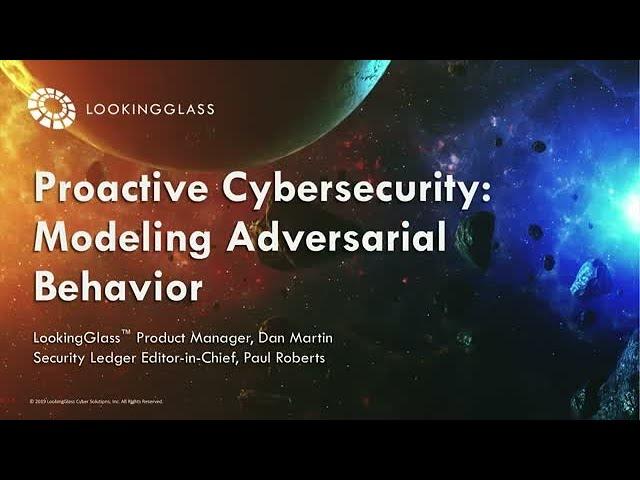 Proactive Cybersecurity: Modeling Adversarial Behavior