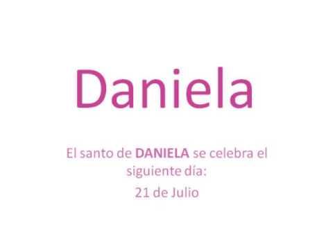 Significado y origen del nombre Daniela - YouTube