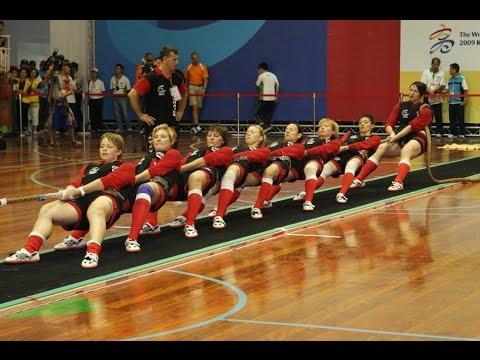 World sport Games-2009. The Tug of War sport. Women  (Indoor)