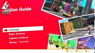 Super Mario Odyssey Exploring the Action Guide - All Moves Shown (NO  SPOILERS)
