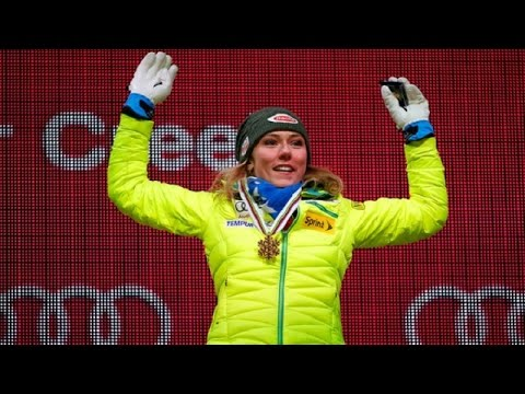 Mikaela Shiffrin • World Champs Vail Gold Medal Ceremony • 2015