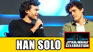 HAN SOLO MOVIE Star Wars Celebration Panel - Alden Ehrenreich
