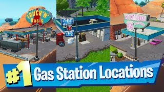 Spray different Gas Stations Locations - Fortnite (Spray & Pray)