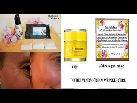 Homemade DIY Wrinkle Cream { BEE VENOM } NATURAL BOTOX Dr Perricone