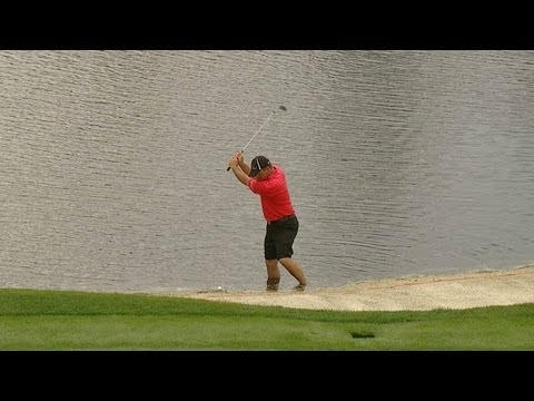 Nicholas Thompson makes incredible par save from the water