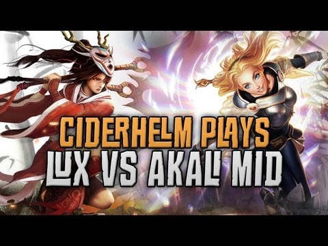 Awesome Lux vs Akali Mid