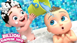 TWINS BABIES Bathing Song - 3D Animation Songs for Children