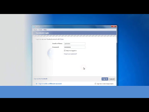 Login & use Skype with Facebook & Outlook account