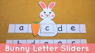 Bunny Letter Sliders - Preschool Alphabet Activity