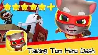 Talking Tom Hero Dash Day12 Walkthrough Let's protect the city ! Recommend index five stars+