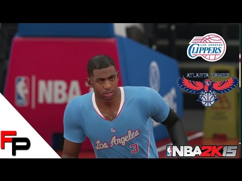 NBA 2K15 Gameplay - Atlanta Hawks at Los Angeles Clippers