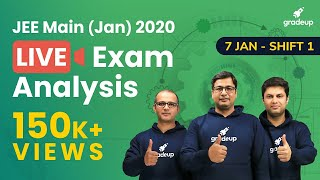🔴JEE Main Paper Analysis 2020 (7th Jan, Shift 1): JEE Main Question Paper, Expected Cutoff