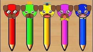Learn Colors With Color Pug Pencils - Learning Color Video for Kids #15