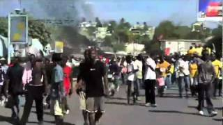 Haitians Are Demonstrating Against Results Of Haiti Presidential Election
