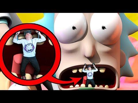 РИК И МОРТИ ПЫТАЮТСЯ МЕНЯ СЪЕСТЬ!!! НА ПОМОЩЬ!! (Rick and Morty: Virtual Rick-ality)