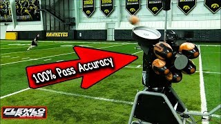 Worlds 1st Robotic Quarterback Has PERFECT Accuracy!