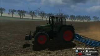 Landwirtschafts, Simulator, 2011, Saatbeetvorbereitung, Fendt, 818, Vario, Feingrubbern
