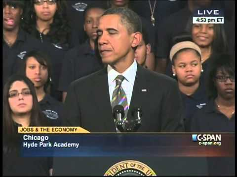 President Obama Hyde Park Academy Chicago Illinois (February 15, 2013) [2/2]