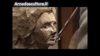 Corso di scultura su legno - Speed sculpting, scolpire un volto in legno, carving a face in vood