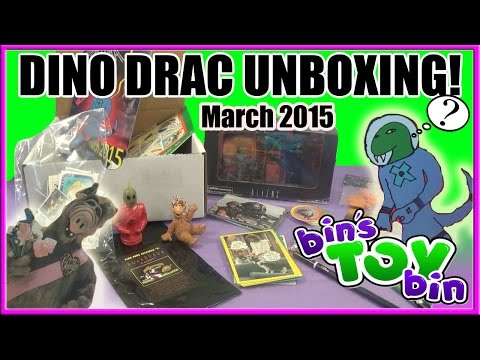 Dinosaur Dracula Fun Pack March 2015 - Outer Space! Unboxing By Bin's Toy Bin video
