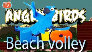 Angry Birds Rio - Part 9 Beach Volley Level 16 -20 - Gameplay Walktrough