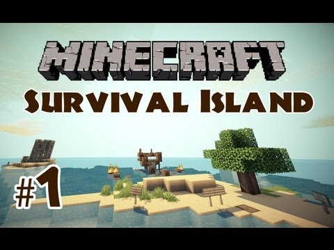 Minecraft Survival Island: Part 1 - Secret Chamber