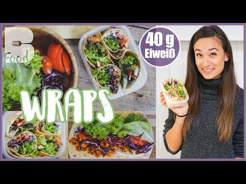Wrap selber machen - Einfach und gesund Mittagessen - Ideal für Schule / Uni / Arbeit