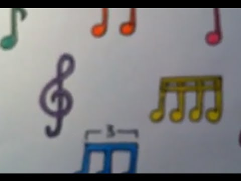 Notas Musicales de Colores